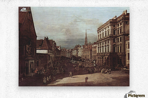 View of Vienna, flour market of Southwest seen from northeast  Metal print