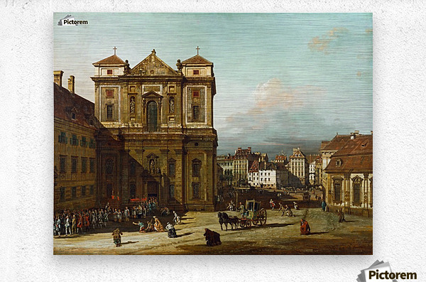 Procession in Dresden  Metal print