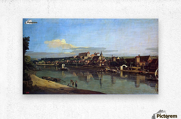 The Hermitage Museum. View of Pirna from Posta  Metal print