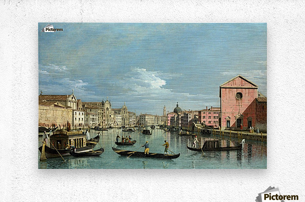 The Grand Canal facing Santa Croce  Metal print