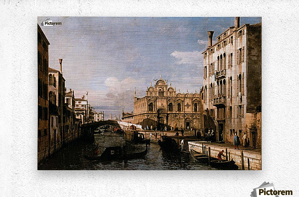 Rio dei Mendicanti with the Scuola di San Marco  Metal print