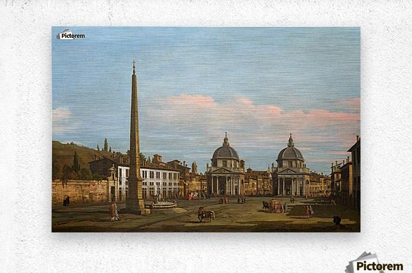 The Piazza del Popolo, Rome  Metal print