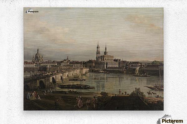 Dresden, die Altstadt Dresdens vom Neustadter Bruckenkopf  Metal print
