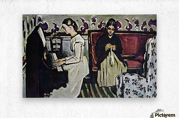 Girl at Piano by Cezanne  Metal print