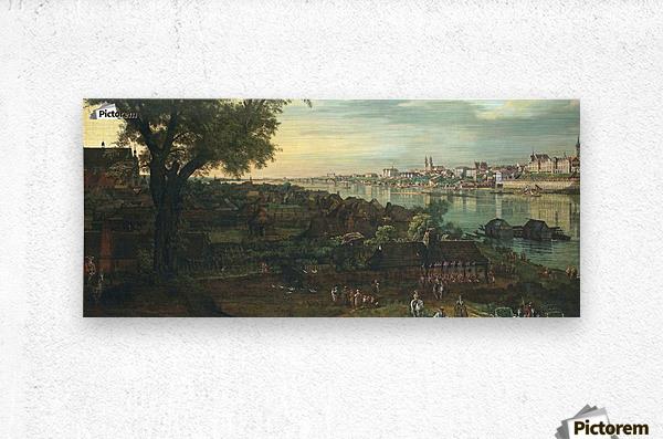 View of Warsaw from Prague  Metal print