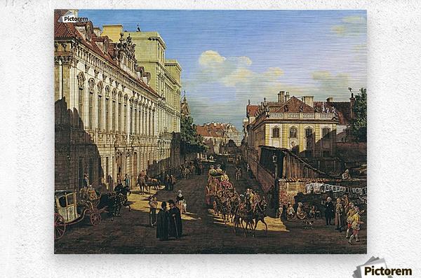 Miodowa Street in Warsaw  Metal print