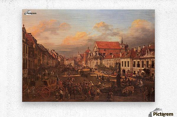 Die Altstadt wurde nach dem Krieg nach alten  Metal print