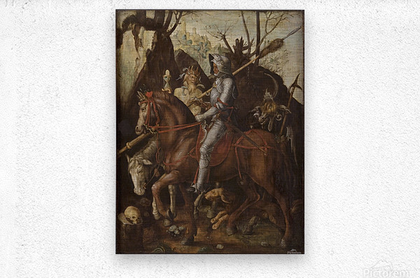 A Knight, Death, and the Devil  Metal print
