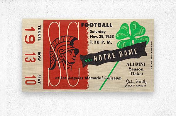 1953 USC vs. Notre Dame  Metal print
