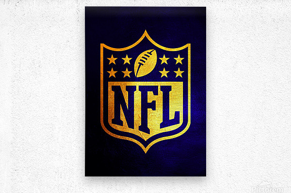 Nfl logo Blue Gold Skyline  Metal print