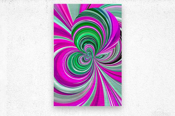 DISTORSION 5B  Metal print