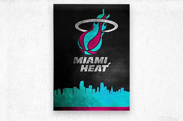 Miami Heat Vice  Metal print
