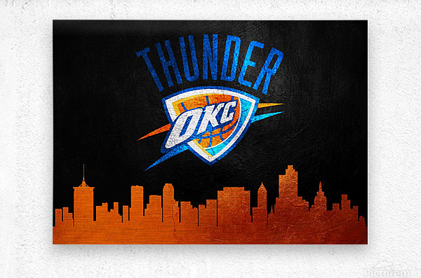 Oklahoma City Thunder  Metal print
