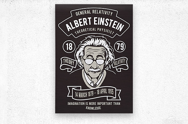 Albert einstein poster  Metal print