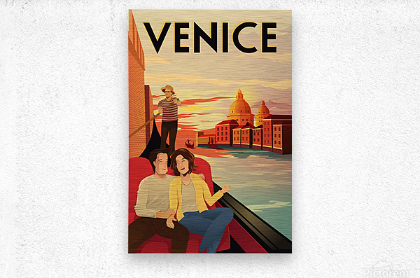 venice travel poster  Metal print