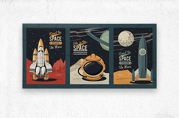 Life space poster with set scenes  Metal print