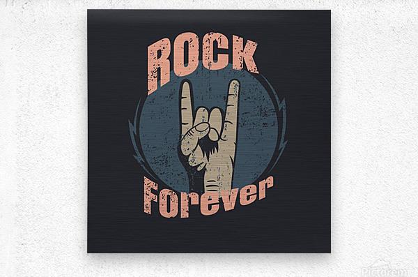 rock forever_  Metal print
