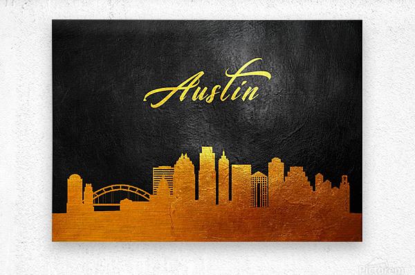 Austin Texas Skyline Wall Art  Metal print