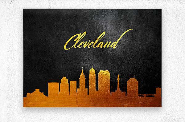 Cleveland Ohio Skyline Wall Art  Metal print