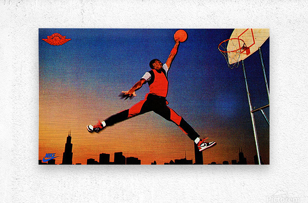 1985 Nike Promo Jordan Rookie Card Wall Art  Metal print