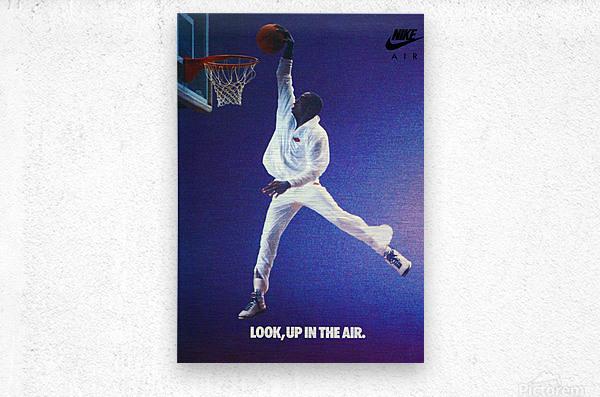 1987 Michael Jordan Nike Ad  Metal print