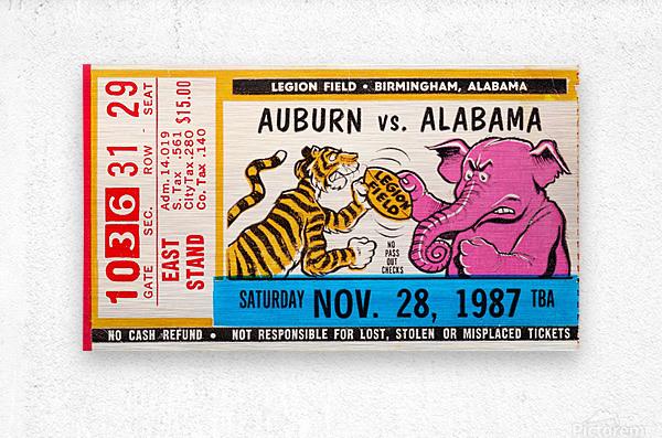 1987 Alabama vs. Auburn   Metal print