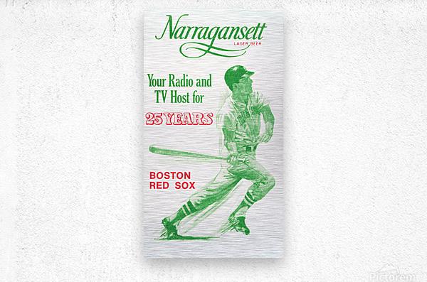 1969 Narragansett Beer Red Sox Ad  Metal print