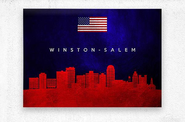 Winston Salem North Carolina  Metal print