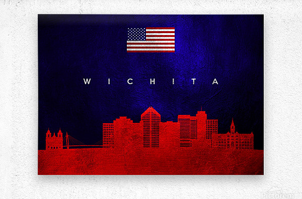 Wichita Kansas  Metal print