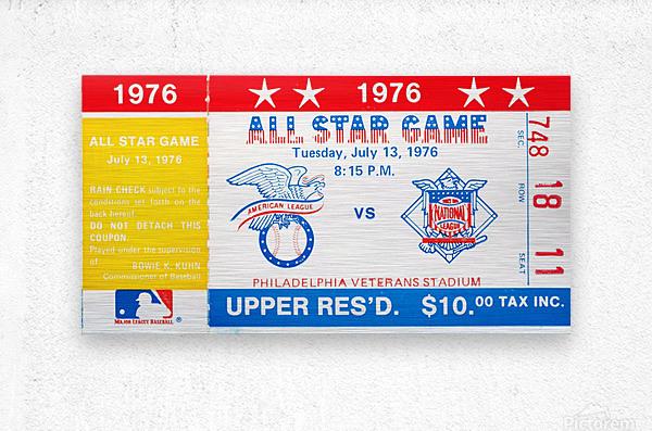 1976 All Star Game  Metal print
