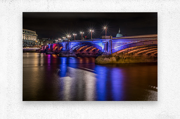 London Bridge at night  Metal print