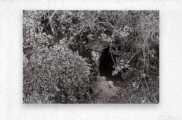 Cave entrance  Metal print