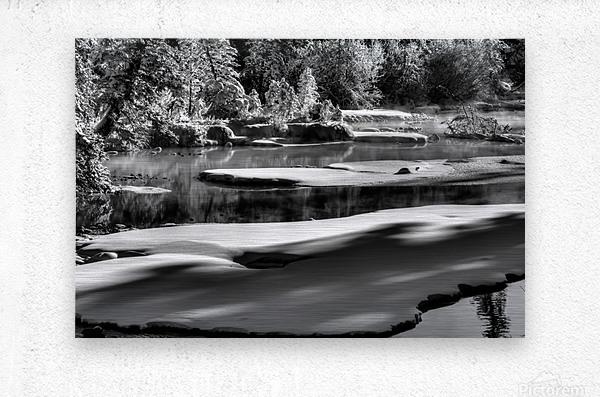 Frosty Creek In Alberta   Metal print