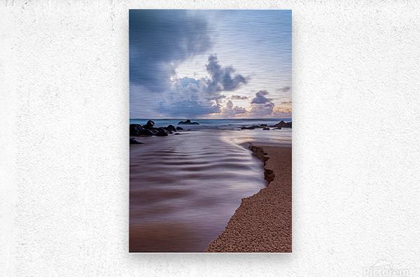 Where the Heavens Meet the Sea  Metal print