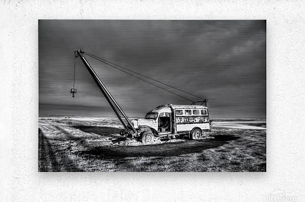 Vintage Boom Truck  Metal print