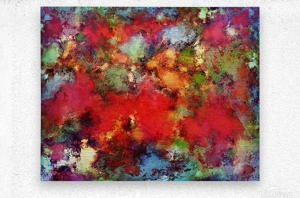 A red road  Metal print