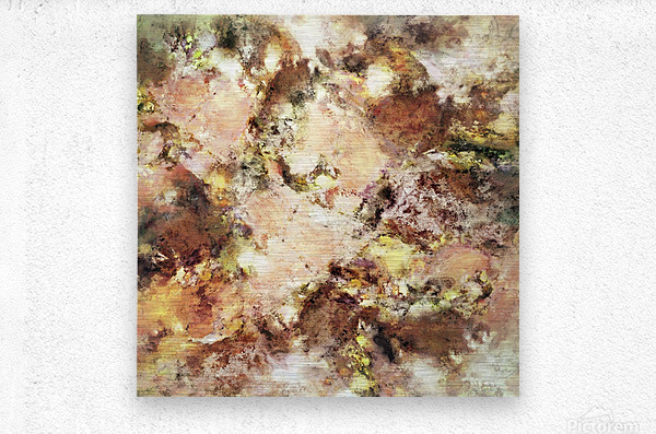 Abraded surface  Metal print