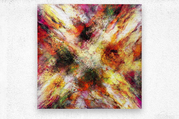 Back to the fires  Metal print