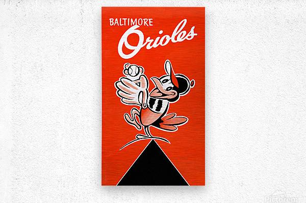Baltimore Orioles Row One  Metal print