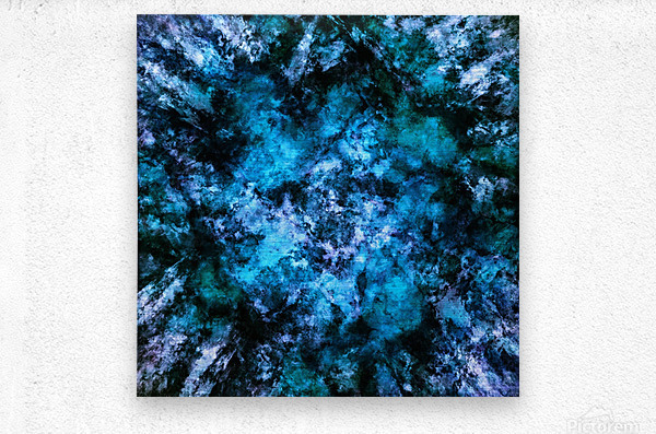 Blue burst  Metal print
