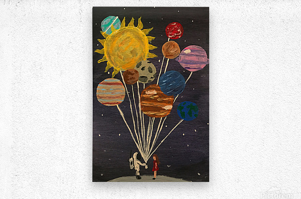 Gift From Out Of This World  Metal print
