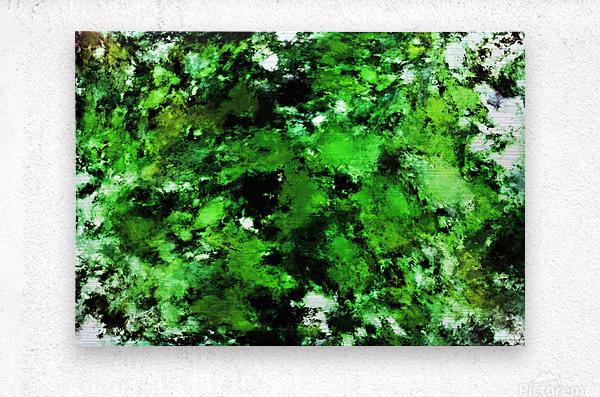 Green deflected  Metal print