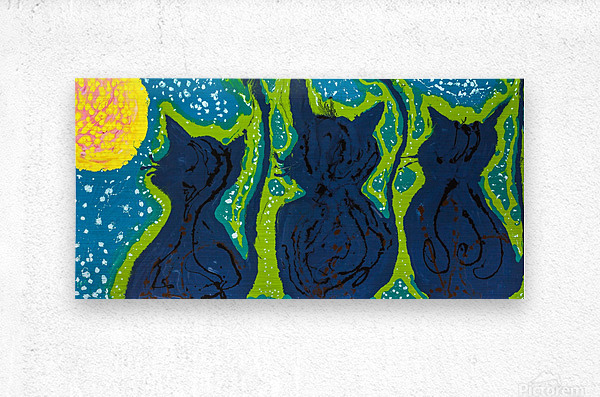 Maudlin Cats  Metal print