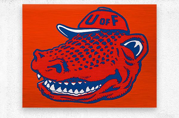 Vintage Florida Gators Wall Art  Metal print