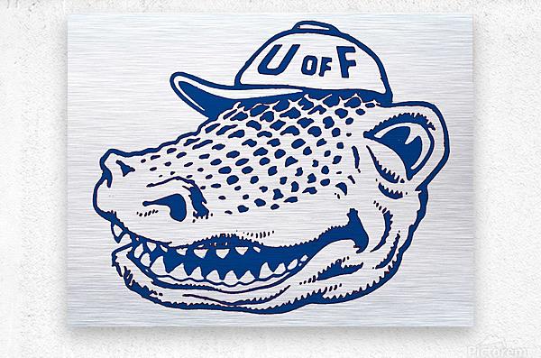 vintage florida gators wall art blue  Metal print