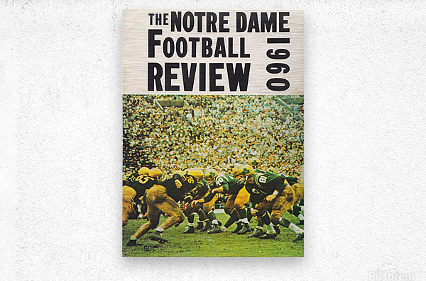 1960 notre dame football  Metal print