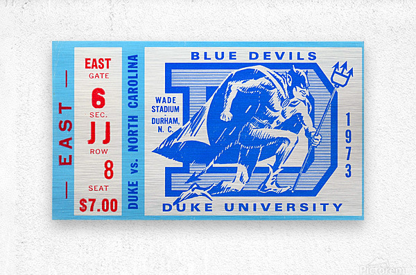 1973 Duke vs. North Carolina  Metal print