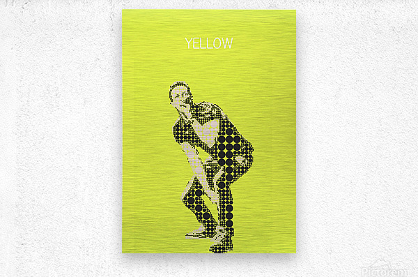yellow    Chris Martin  Metal print