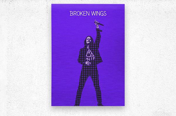 broken wings   Myles Kennedy   alter bridge  Metal print
