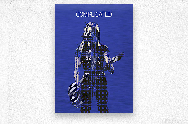 Complicated   Avril Lavigne  Metal print